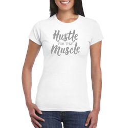 Ladies T-shirt Hustle - White M
