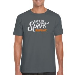 Man T-shirt Repeat - Gray M