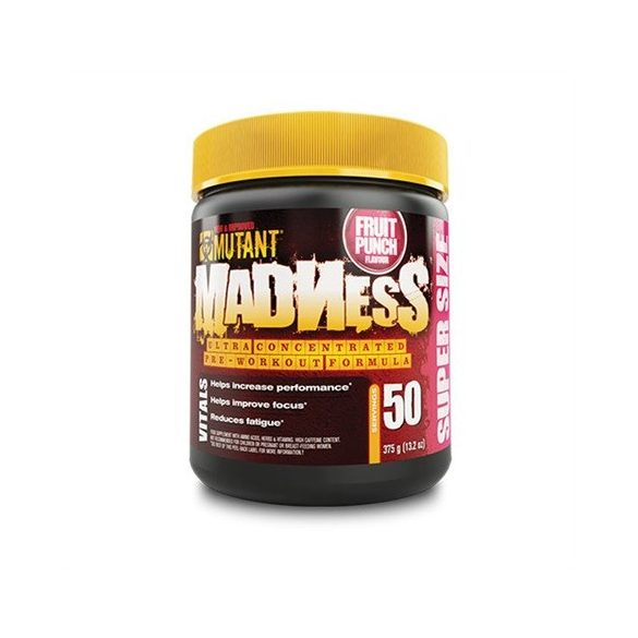 Mutant Madness preworkout Powder 375g - Peach mango