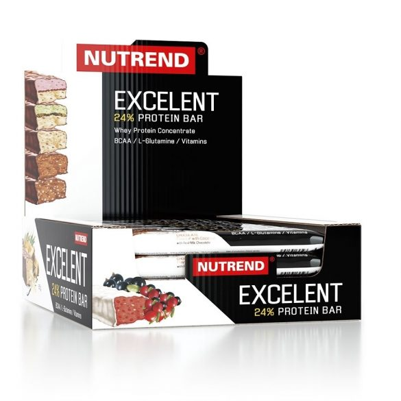 Nutrend Excelent Protein bar 85g - Chocolate+Nougat+Cranberry