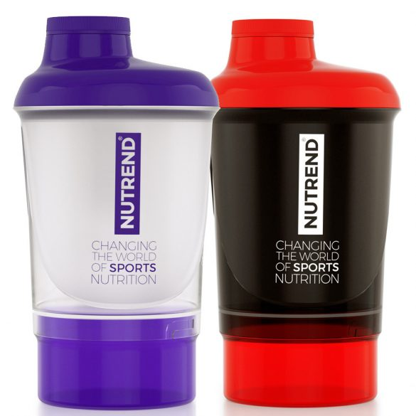 Nutrend Shaker Black & Red + additional cup 300 ml