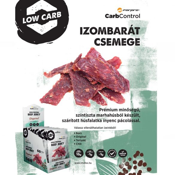 High Protein Beef Jerky - Peppered 5999104000045 2022.04.29