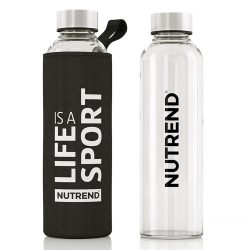 Nutrend Glass Bottle  üveg kulacs - 500 ml - black