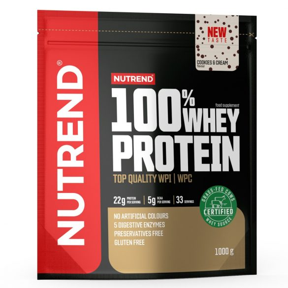 Nutrend 100% Whey Protein 1000g - Cookies & Cream