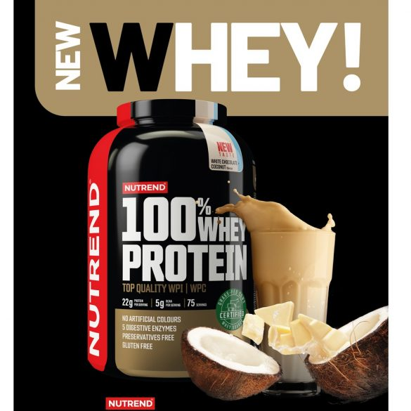 Nutrend 100% Whey Protein 2250g  - White chocolate + Coconut